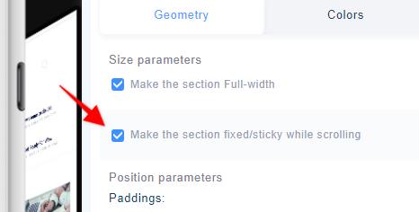 Sticky Option